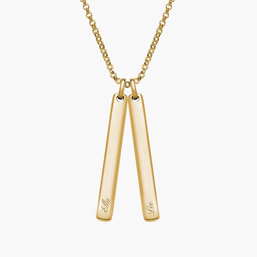 Luna Bar Necklace, Gold Plated - 1