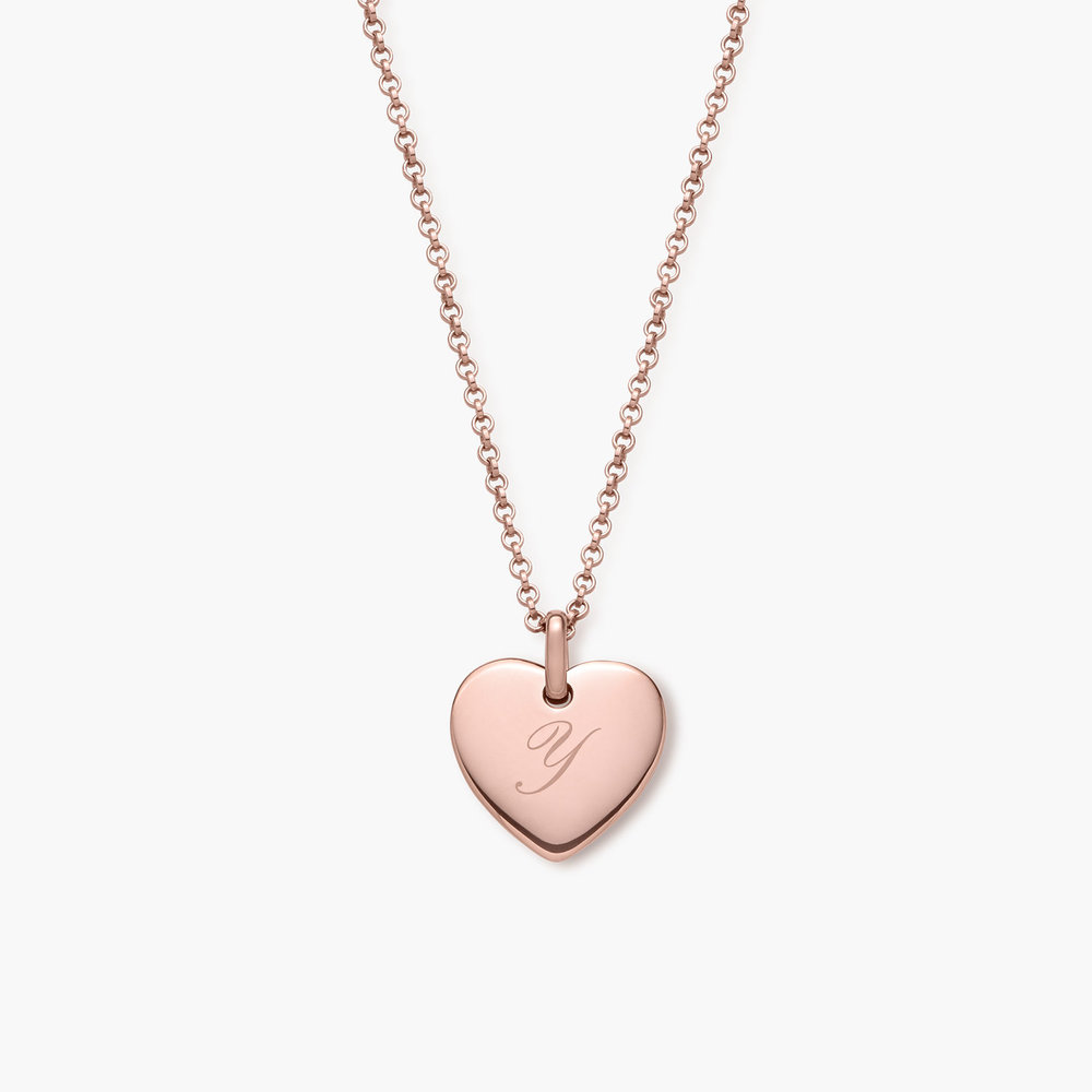 Luna Heart Necklace, Rose Gold Plated