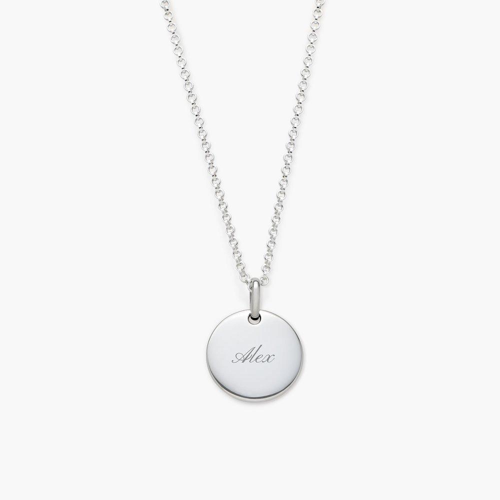 Luna Round Necklace, Silver