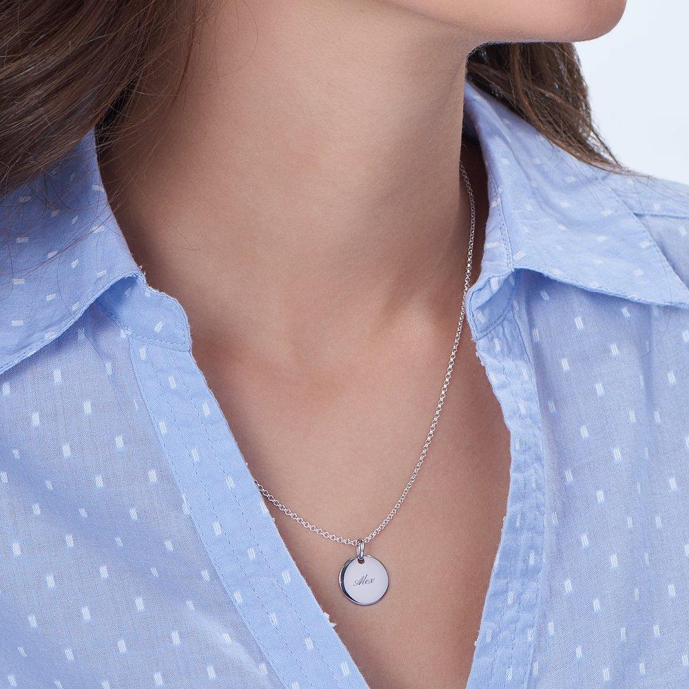 Luna Round Necklace, Silver - 2