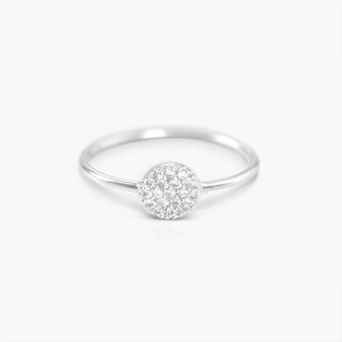 Mini Stardust Ring, Silver