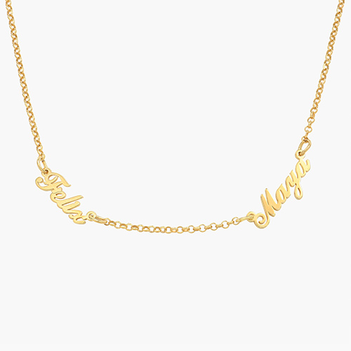 Multiple Name Necklace - Gold Plated