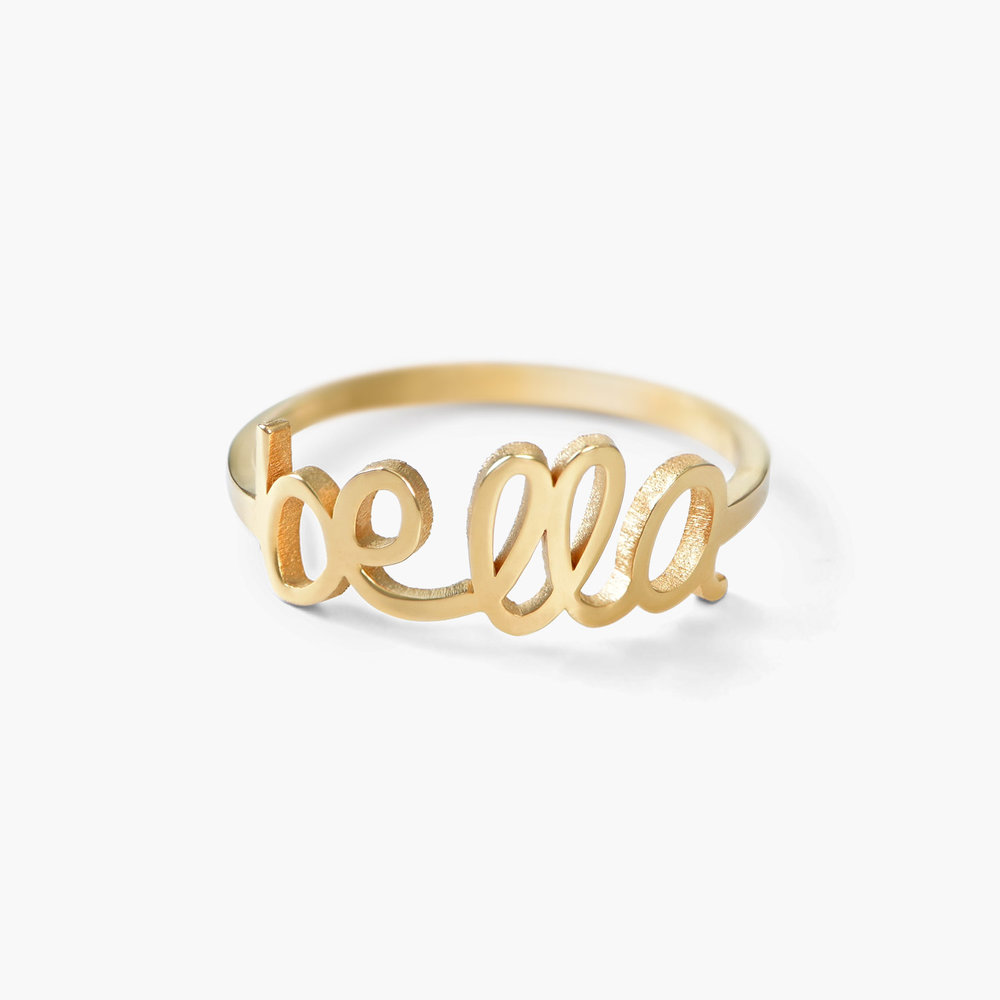 Pixie Name Ring, Gold Plated