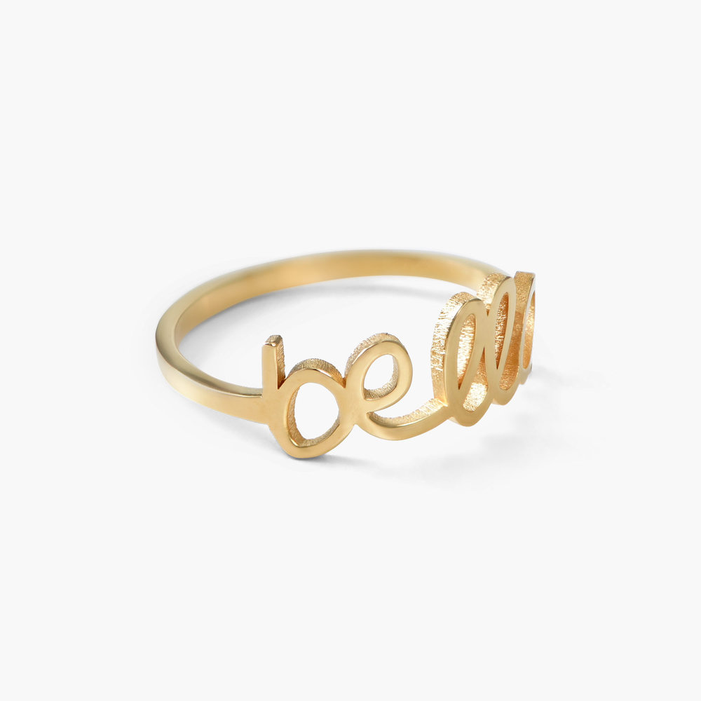 Pixie Name Ring, Gold Plated - 1
