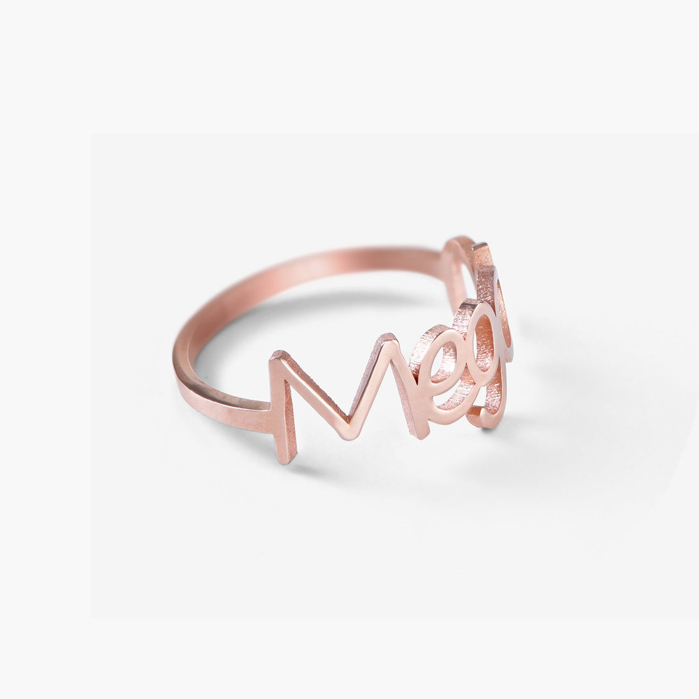 Pixie Name Ring, Rose Gold Plated - 1