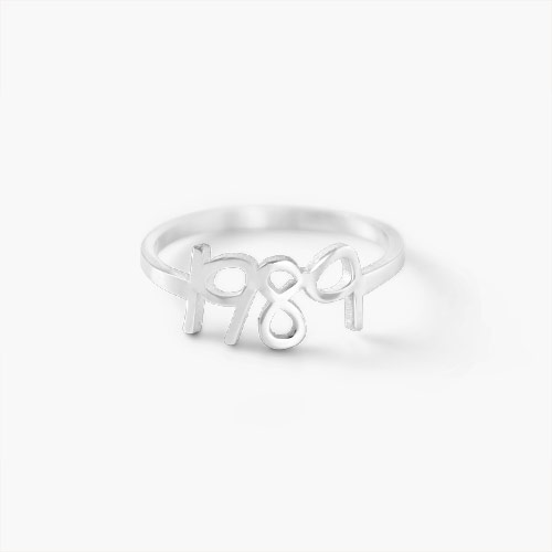 Pixie Name Ring, Silver