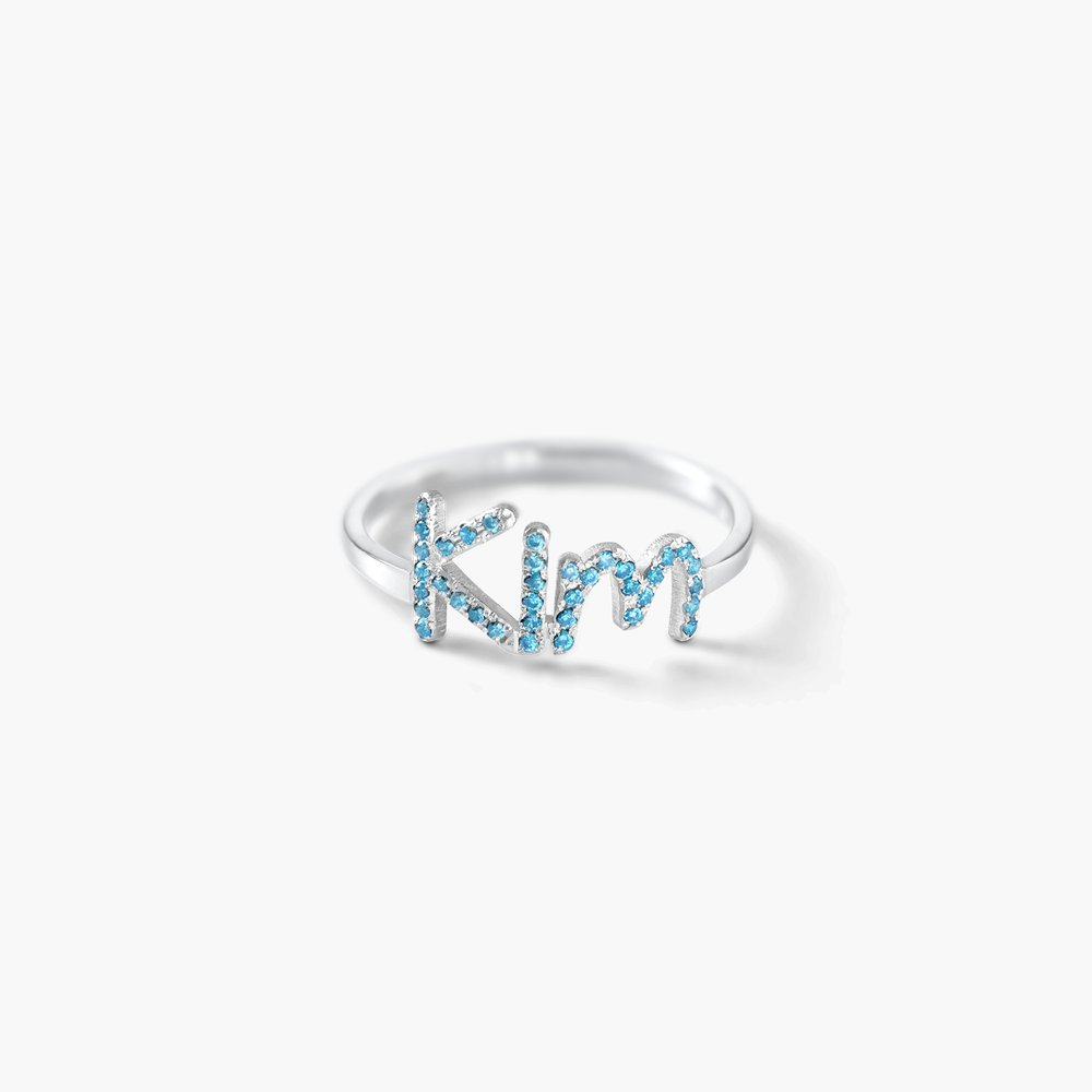 Pixie Name Ring with Cubic Zirconia, Silver