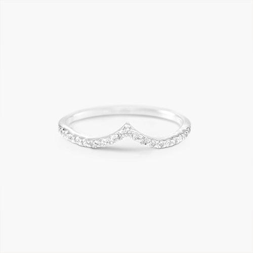 Serenity V Ring, Silver
