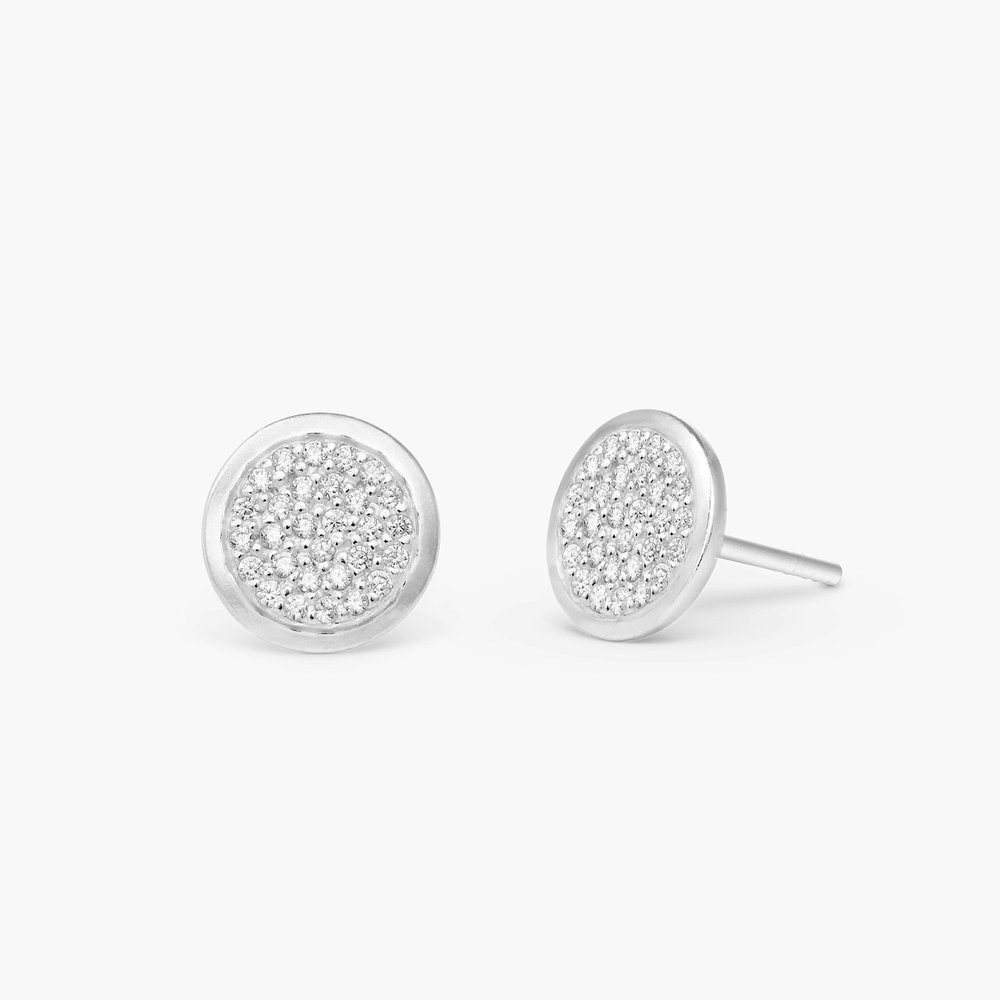 Stardust Earrings, Silver