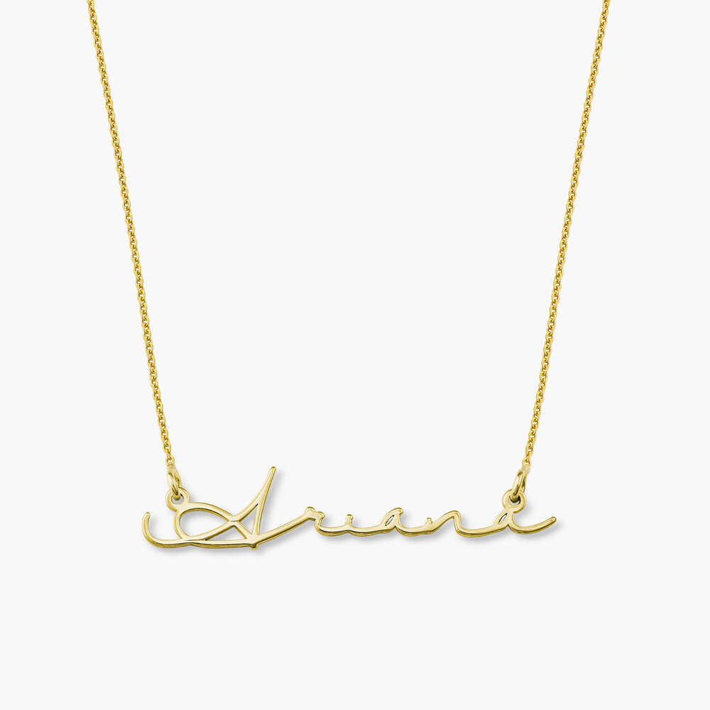 Mon Petit Name Necklace Gold Plated Oak Luna