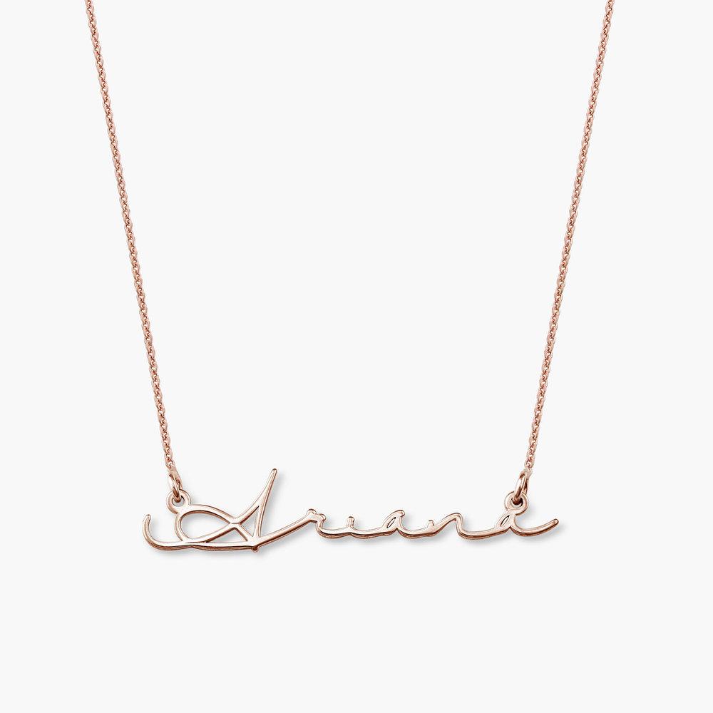 Mon Petit Name Necklace Rose Gold Plated Oak Amp Luna