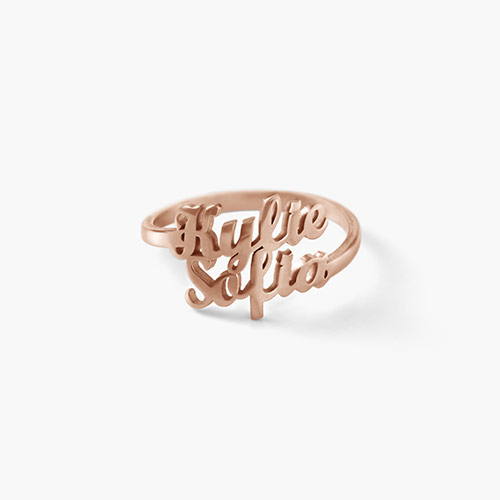 Two is Better Than One Ring, Rose Gold Plated