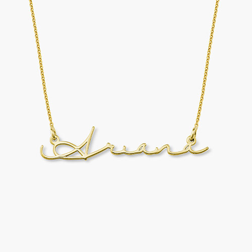 Mon Petit Name Necklace, Gold Plated