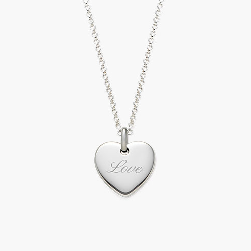 Luna Heart Necklace - Silver