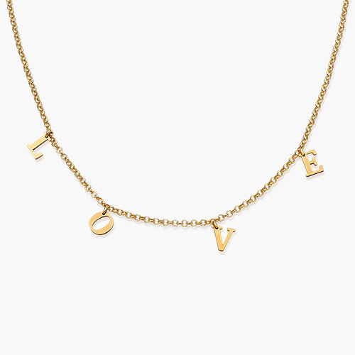 A to Z Choker, Gold Plated