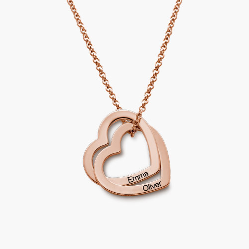 Love Locked Necklace, Rose Gold Plated