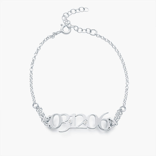 Mark the Day Bracelet, Silver