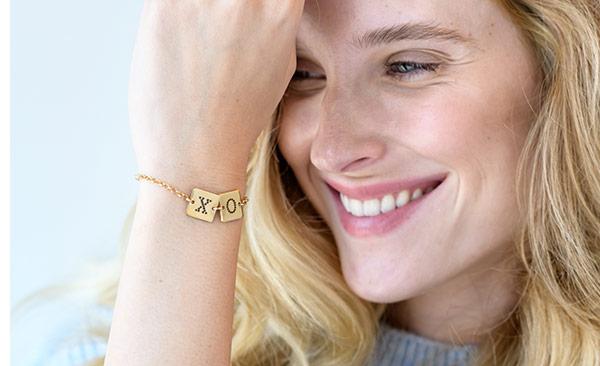 Cube Letter Bracelet