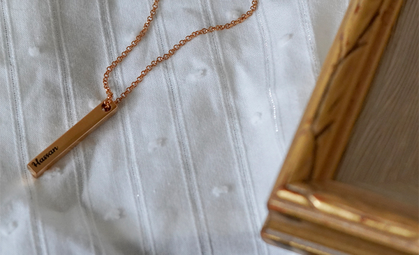 Pillar Bar Necklace - Gold Plated