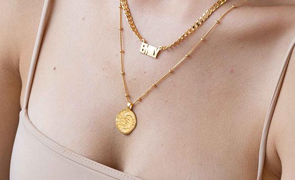 faith vintage coin necklace