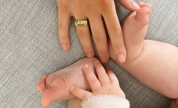 Throwback Name Ring in Gold Plated