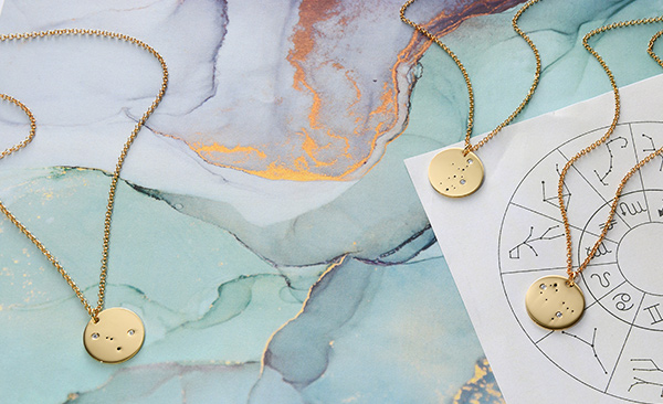 3 Constellation necklaces