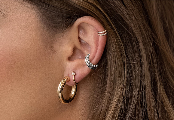 Hoop Earrings in Gold Plating