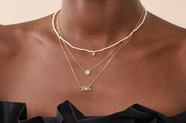 Layered Necklaces – Pave Necklace