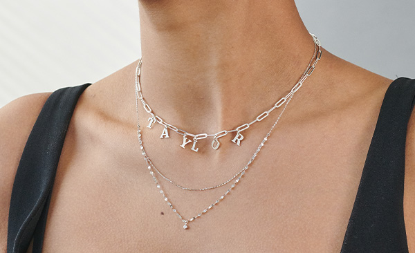 What's My Name Link Choker - Sterling Silver